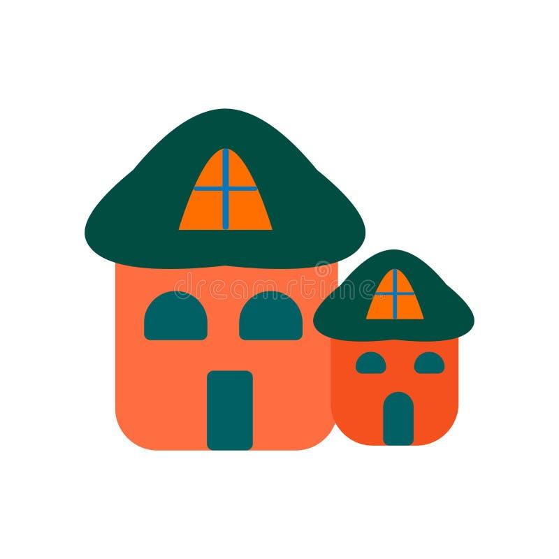 Вектор значка дома изолированный на белой предпосылке, знаке дома, col бесплатная иллюстрация