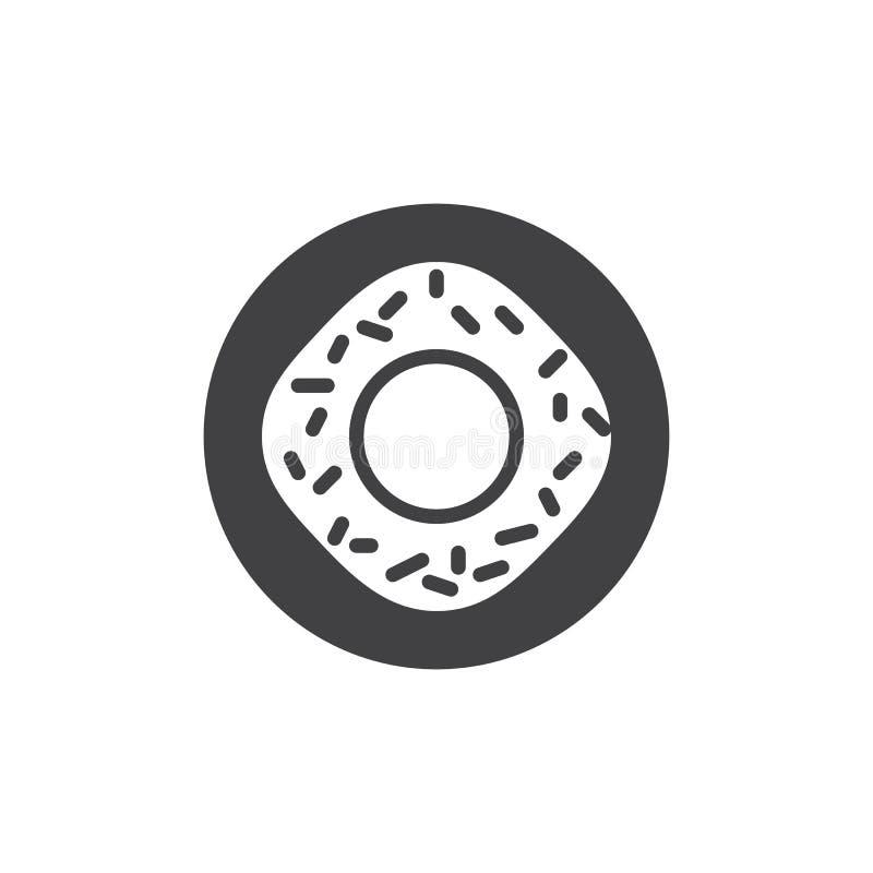Вектор значка донута бесплатная иллюстрация
