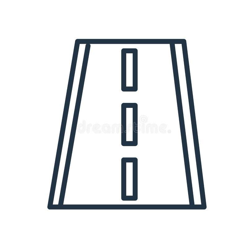 Вектор значка дороги изолированный на белой предпосылке, дорожном знаке иллюстрация вектора