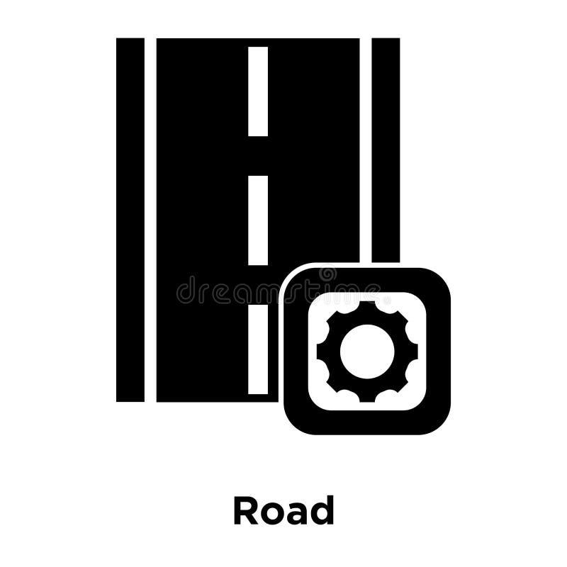 Вектор значка дороги изолированный на белой предпосылке, концепции логотипа r иллюстрация вектора