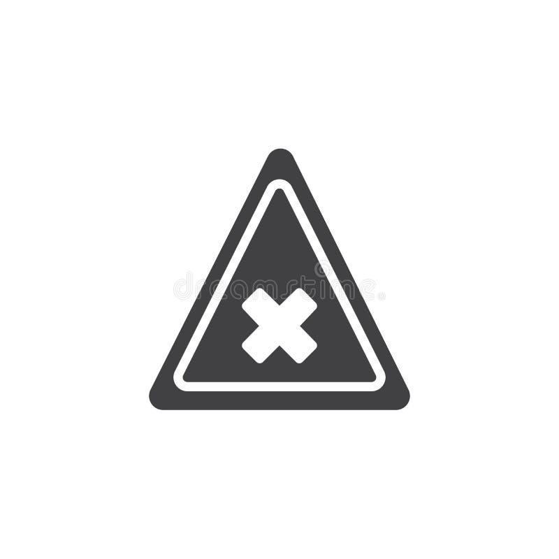 Вектор значка дороги предупреждающий бесплатная иллюстрация