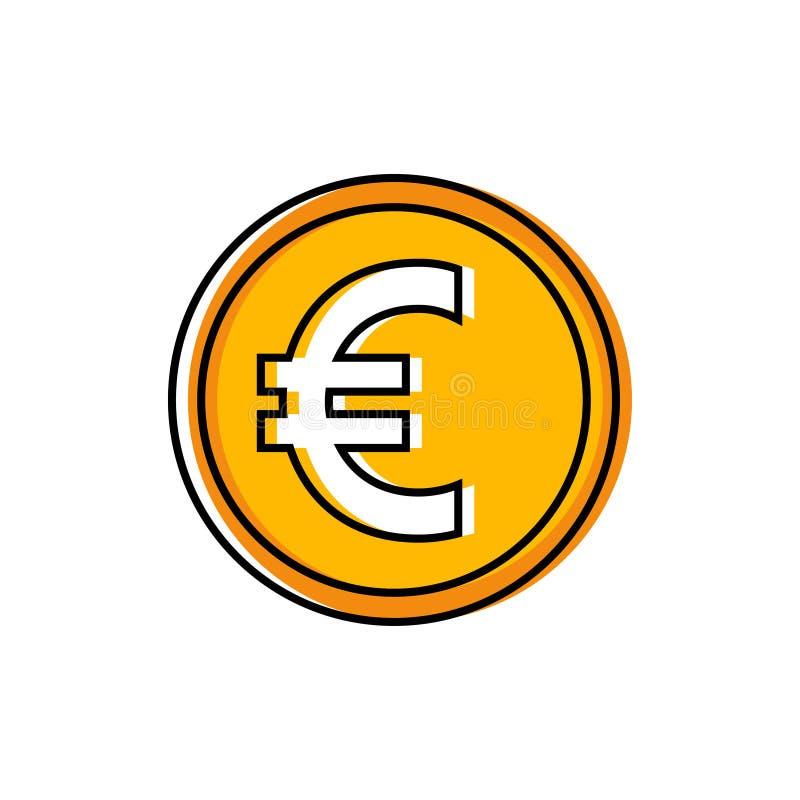 Вектор значка евро иллюстрация вектора