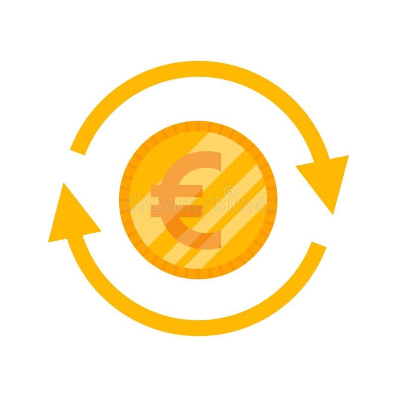 Вектор значка евро бесплатная иллюстрация