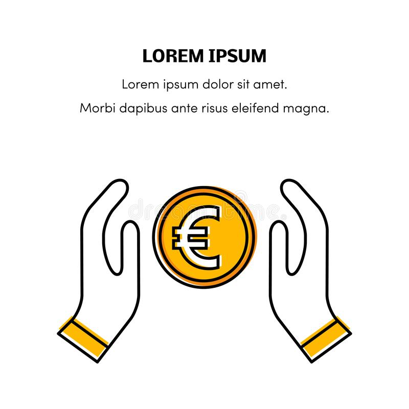 Вектор значка евро иллюстрация штока
