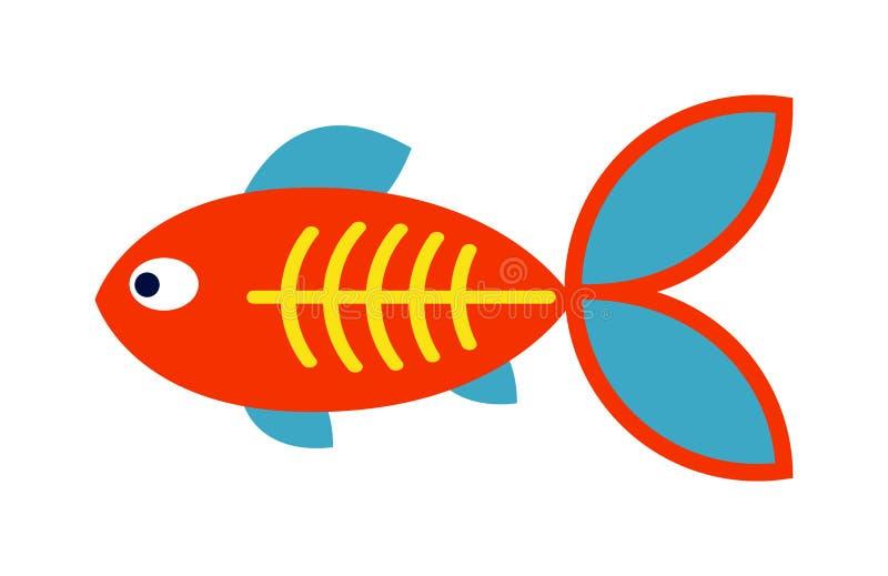 Вектор значка декоративных рыб плоский на белой предпосылке бесплатная иллюстрация