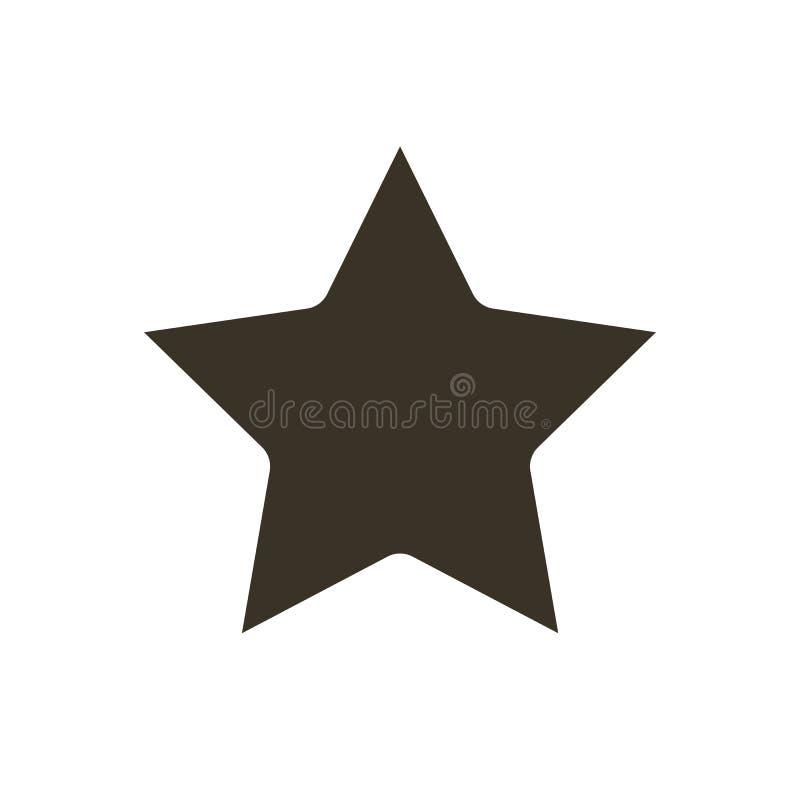 Вектор значка звезды Значок вектора звезды Значок звезды в ультрамодном плоском стиле изолированный на белой предпосылке Классифи иллюстрация вектора