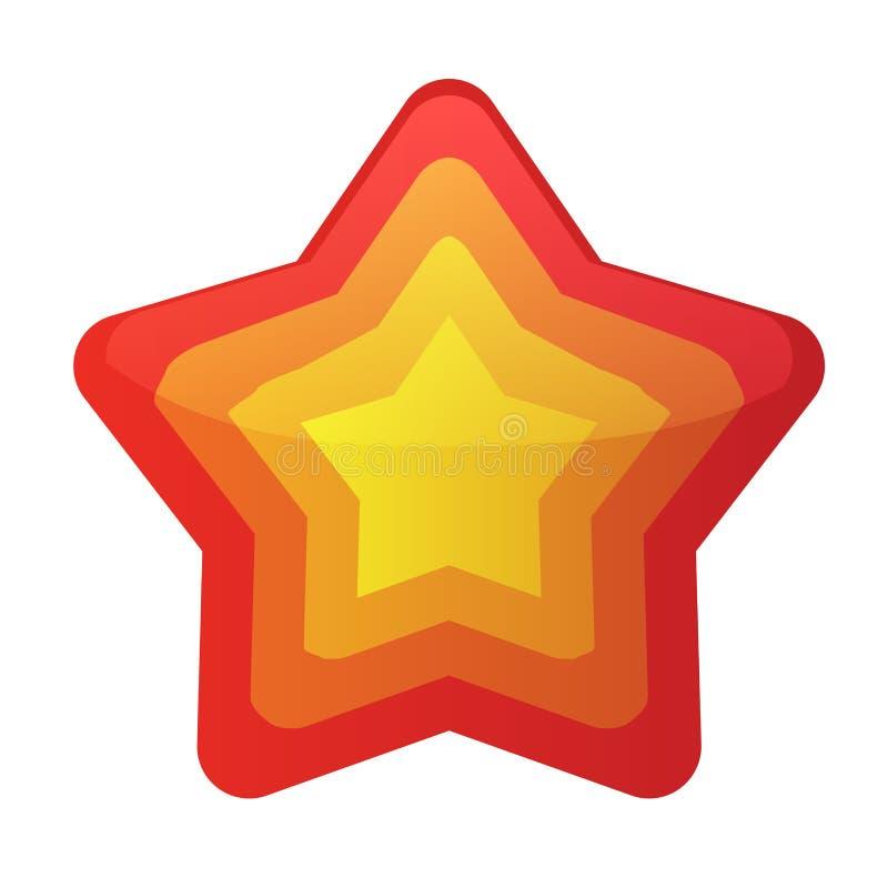 Вектор значка звезды изолированный на белой предпосылке Ультрамодный плоский любимый дизайн Пиктограмма вебсайта звезды, передвиж бесплатная иллюстрация