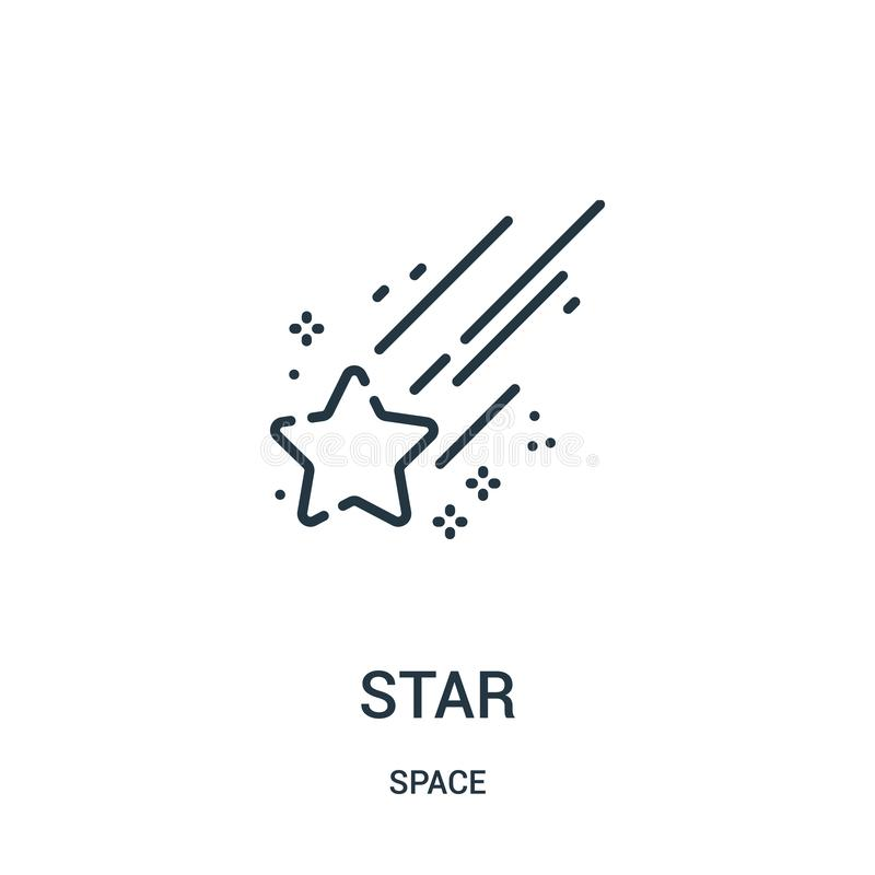 Вектор значка звезды от собрания космоса Тонкая линия иллюстрация вектора значка плана звезды бесплатная иллюстрация