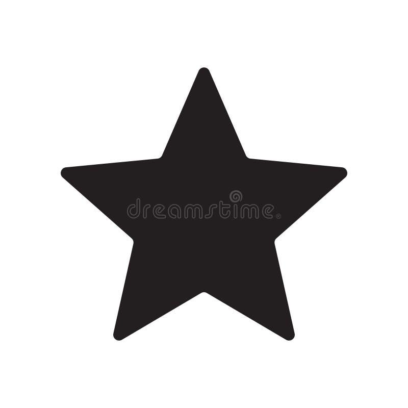 Вектор значка звезды иллюстрация вектора