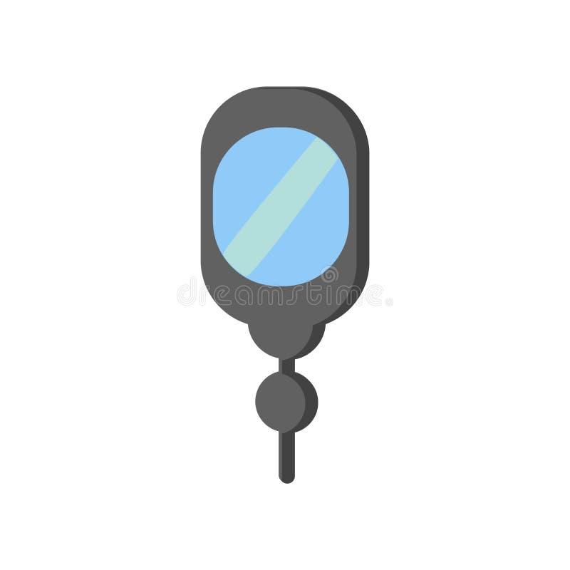 Вектор значка зеркала руки изолированный на белой предпосылке, mirro руки иллюстрация штока
