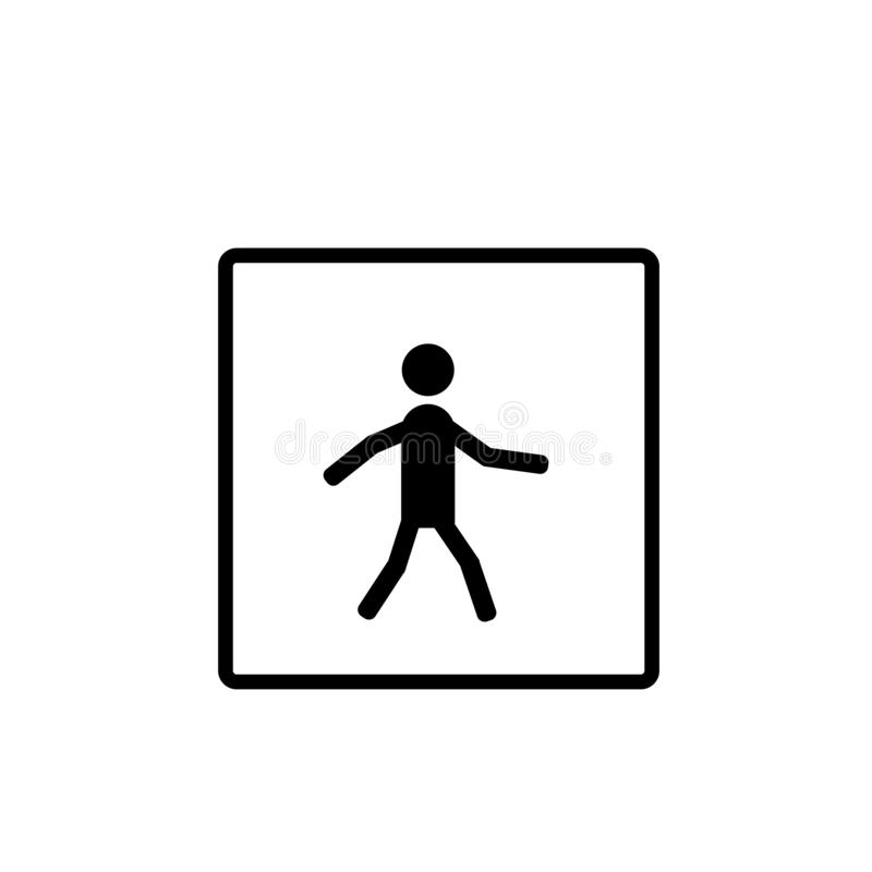 Вектор значка знака зоны скрещивания изолированный на белой предпосылке, знаке знака зоны скрещивания бесплатная иллюстрация