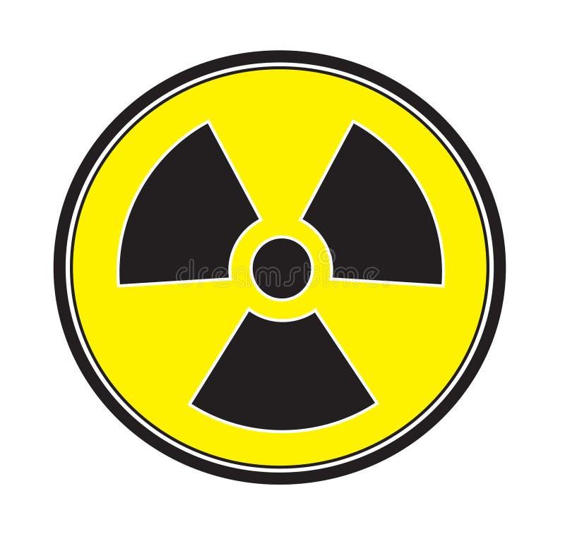 Вектор значка знака радиации иллюстрация штока