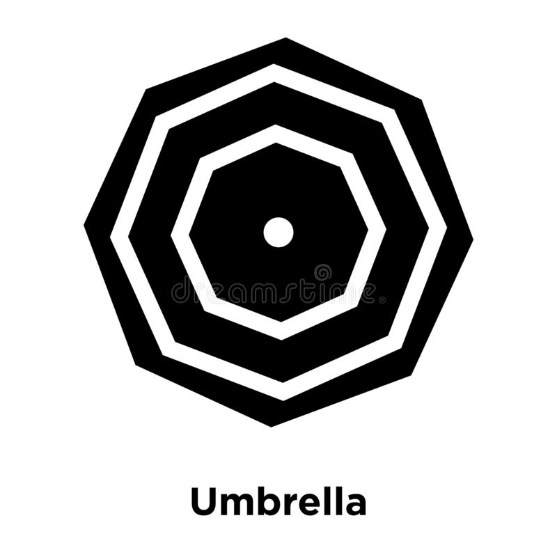 Вектор значка зонтика изолированный на белой предпосылке, концепции логотипа иллюстрация штока