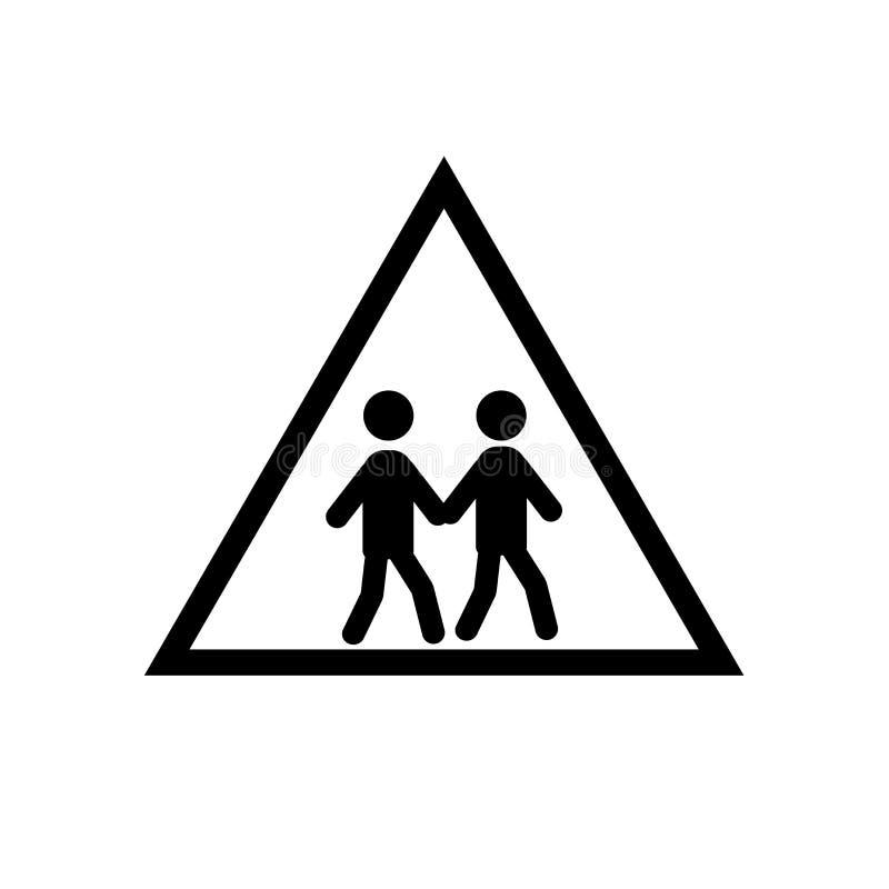 Вектор значка зоны школы изолированный на белой предпосылке, знаке зоны школы иллюстрация штока