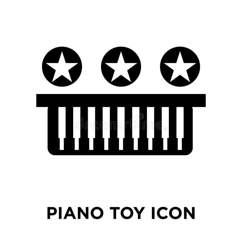 Вектор значка игрушки рояля изолированный на белой предпосылке, концепции логотипа бесплатная иллюстрация
