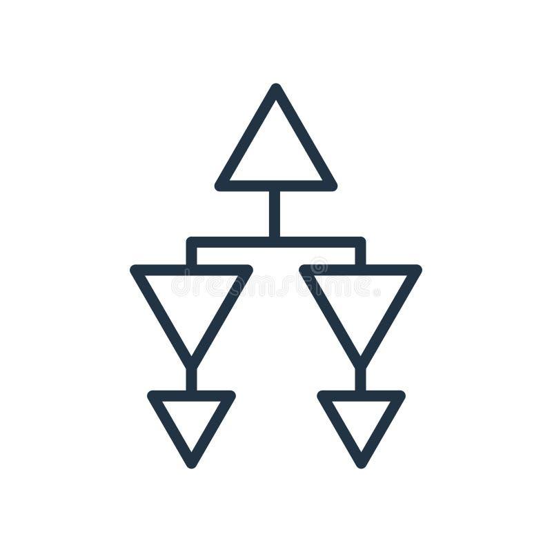 Вектор значка иерархическаяа структура изолированный на белой предпосылке иллюстрация штока
