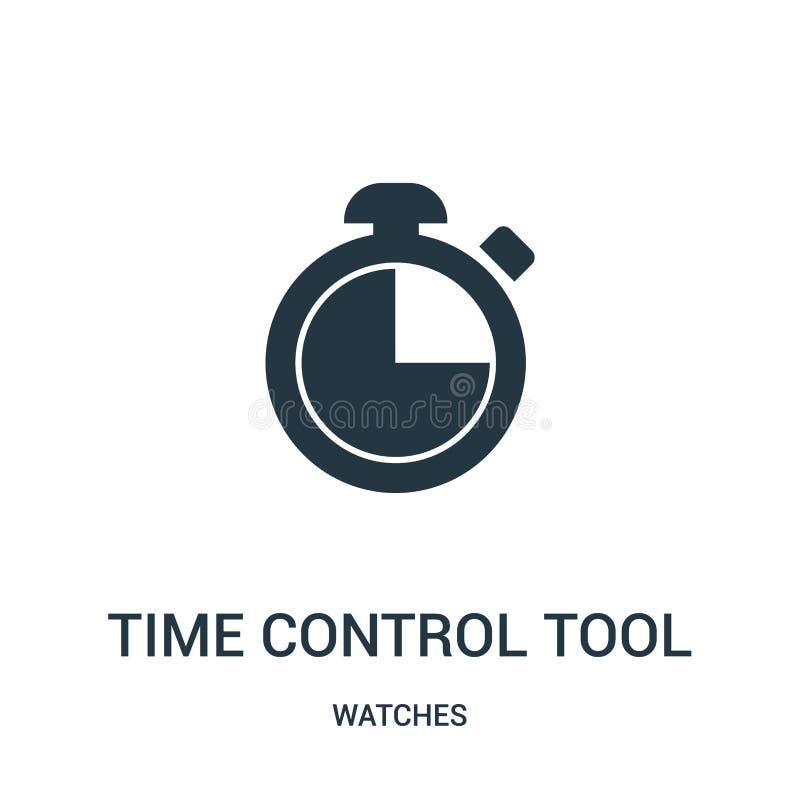 вектор значка инструмента контроля времени от собрания дозоров Тонкая линия иллюстрация вектора значка плана инструмента контроля иллюстрация штока