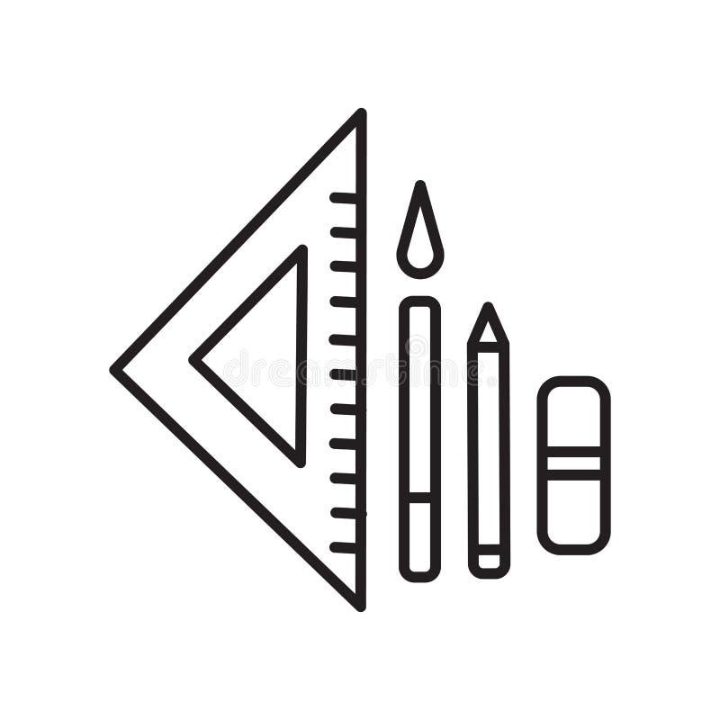 Вектор значка инструментов изолированный на белой предпосылке, инструментах подписывает, знак и символы в тонком линейном стиле п иллюстрация вектора