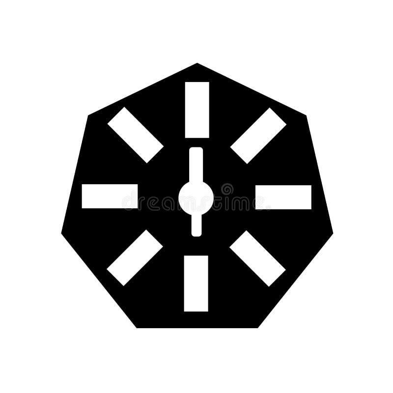 Вектор значка календаря изолированный на белой предпосылке, знаке календаря, черных символах времени бесплатная иллюстрация