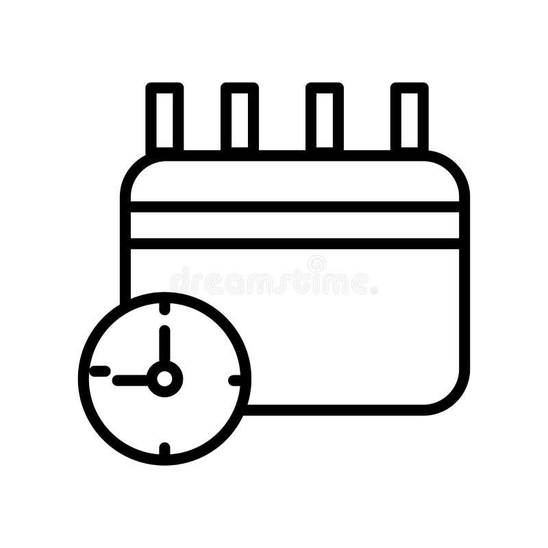 Вектор значка календаря изолированный на белых предпосылке, знаке календаря, линии и элементах плана в линейном стиле бесплатная иллюстрация