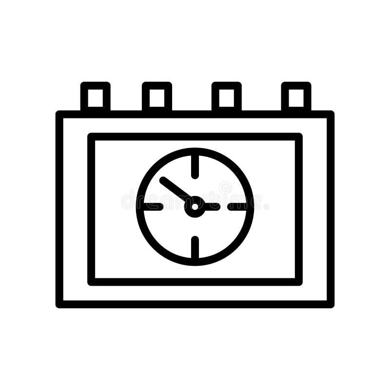 Вектор значка календаря изолированный на белых предпосылке, знаке календаря, линии и элементах плана в линейном стиле иллюстрация штока