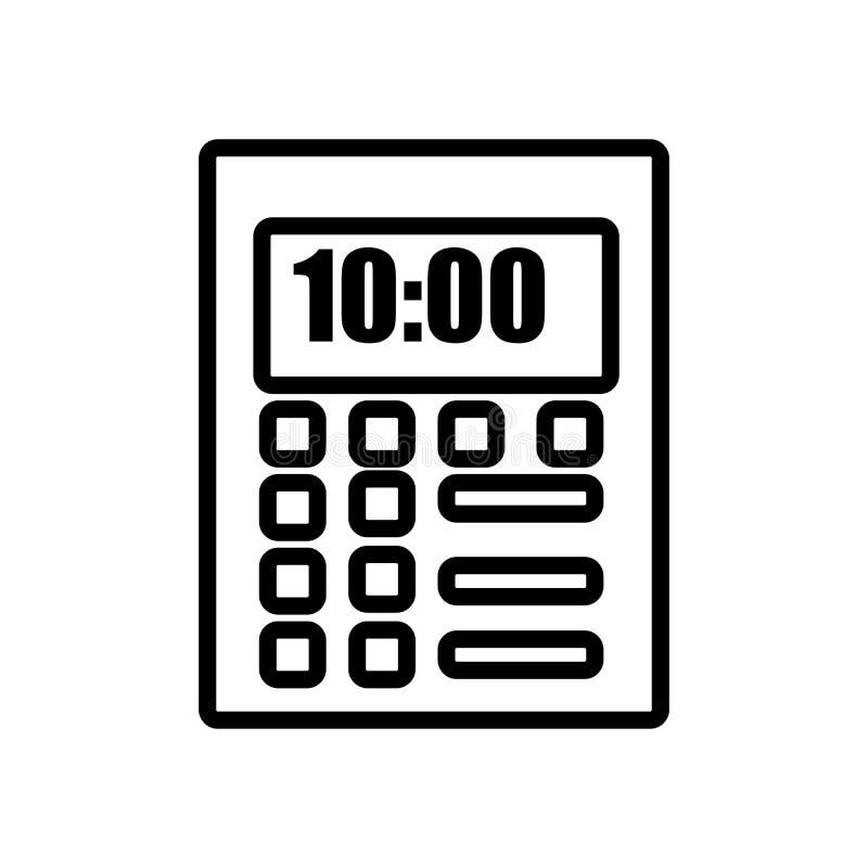 Вектор значка календаря изолированный на белых предпосылке, знаке календаря, линии и элементах плана в линейном стиле иллюстрация вектора