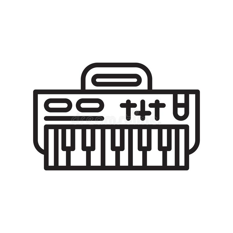 Вектор значка клавиатуры изолированный на белой предпосылке, знаке клавиатуры бесплатная иллюстрация
