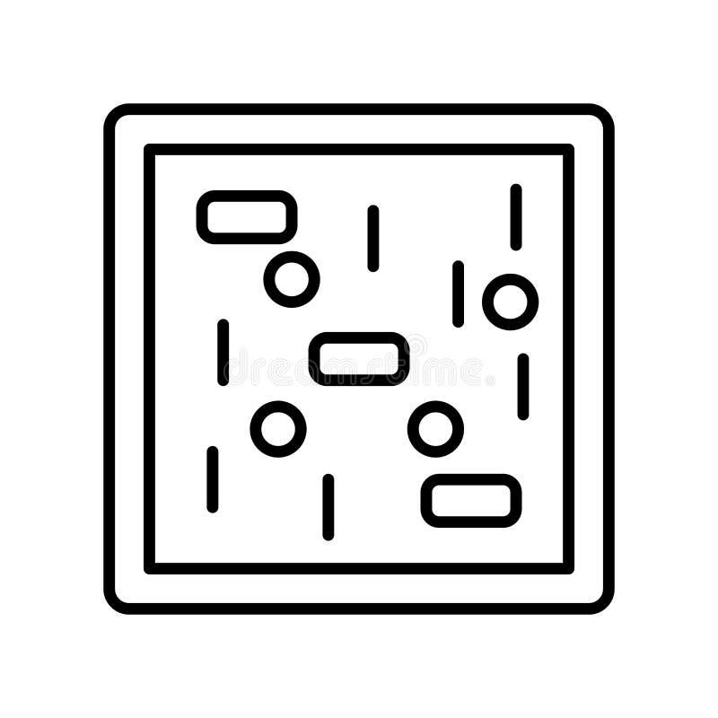 Вектор значка клетки изолированный на белой предпосылке, знаке клетки, тонкой линии элементах дизайна в стиле плана иллюстрация штока