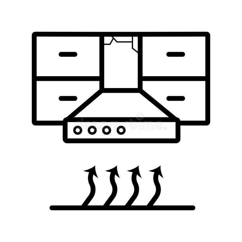 Вектор значка клобука кухни иллюстрация вектора