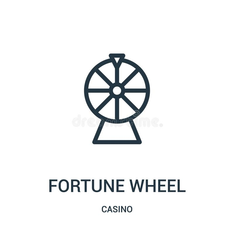 вектор значка колеса удачи от собрания казино Тонкая линия иллюстрация вектора значка плана колеса удачи иллюстрация вектора
