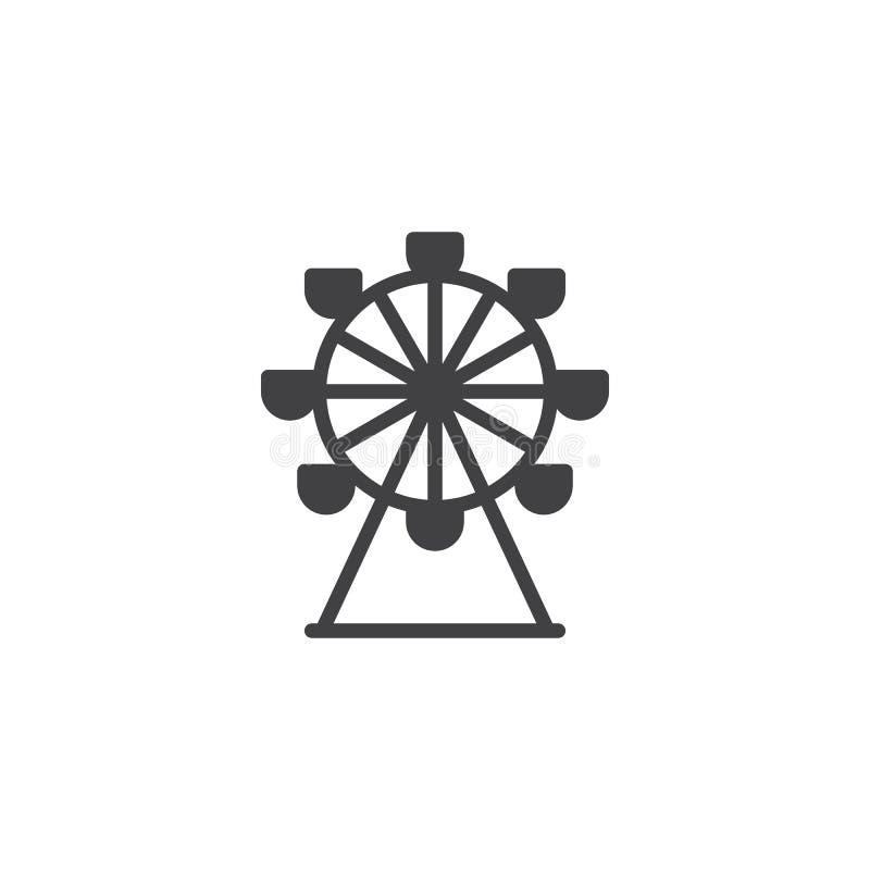 Вектор значка колеса Ferris иллюстрация вектора