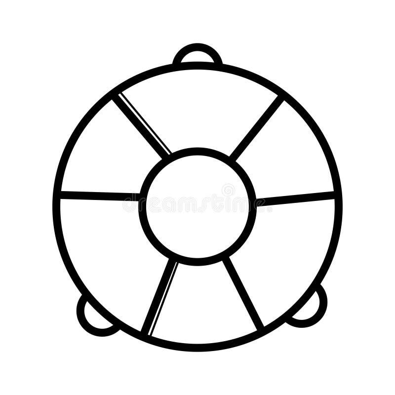 Вектор значка кольца жизни на белой предпосылке значок спасательного жилета иллюстрация вектора