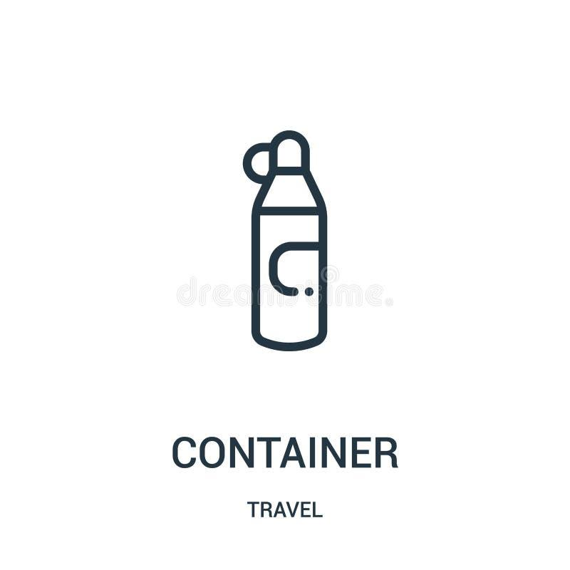вектор значка контейнера от собрания перемещения Тонкая линия иллюстрация вектора значка плана контейнера Линейный символ для пол иллюстрация вектора