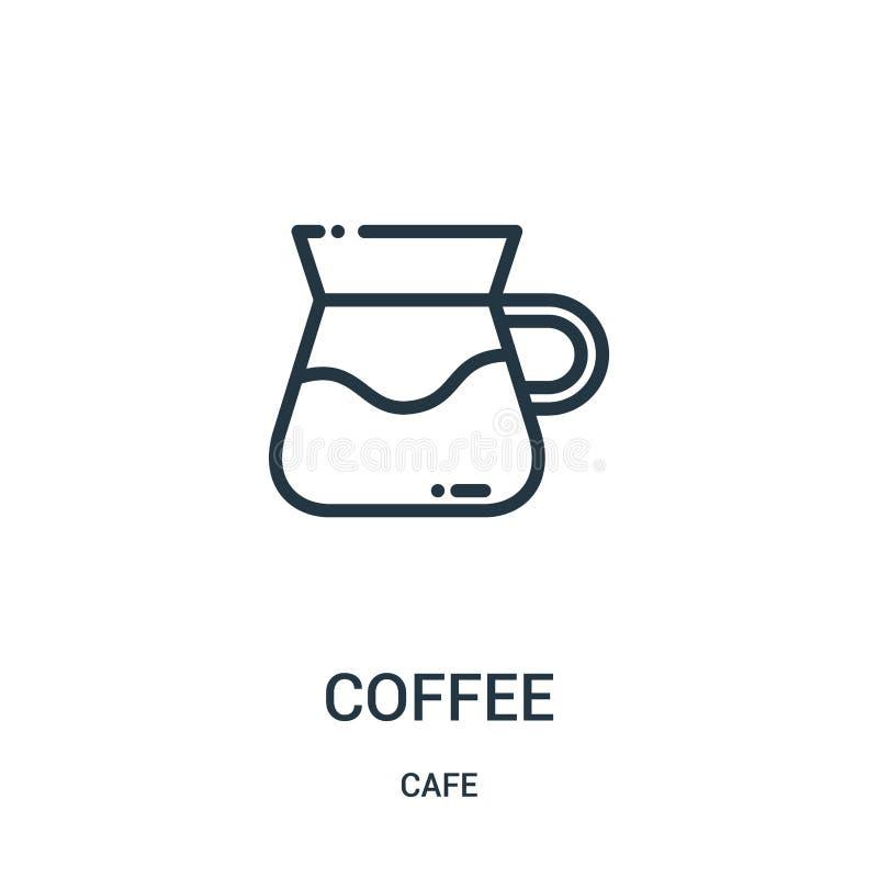 вектор значка кофе от собрания кафа Тонкая линия иллюстрация вектора значка плана кофе r бесплатная иллюстрация