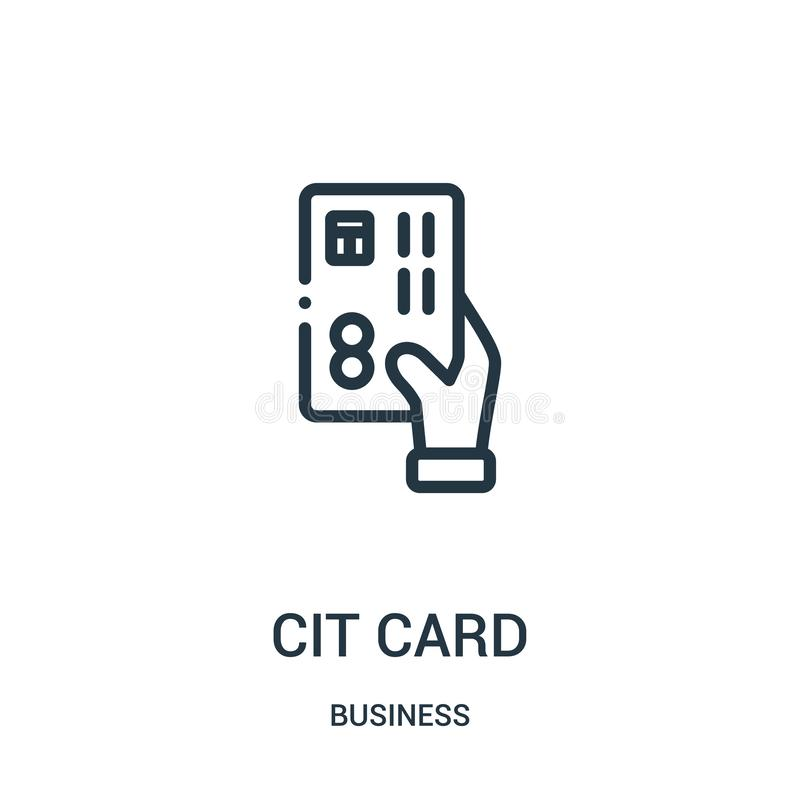 вектор значка кредитной карточки от собрания дела Тонкая линия иллюстрация вектора значка плана кредитной карточки r иллюстрация штока