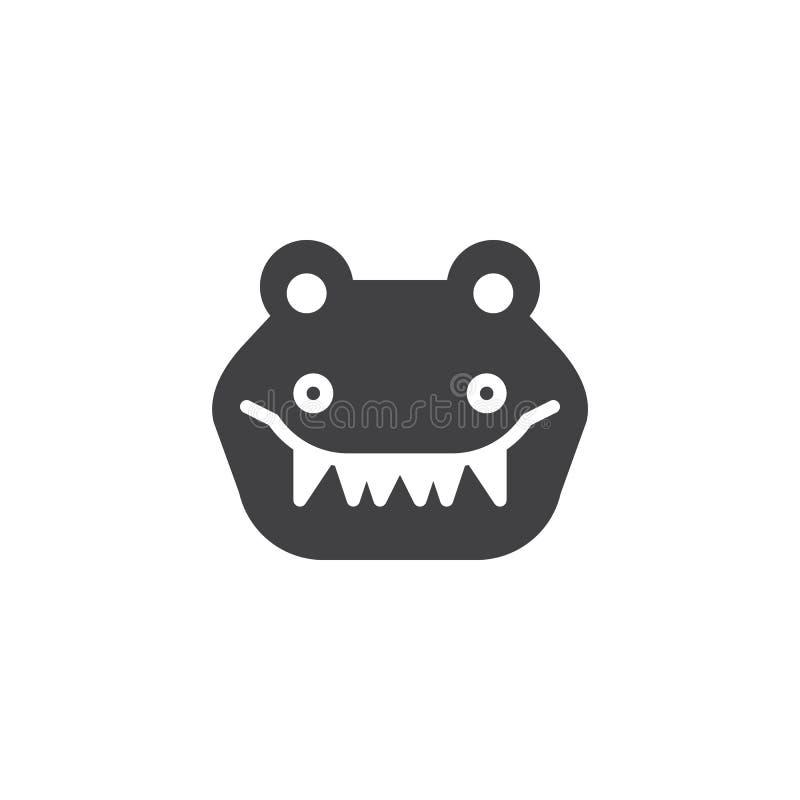Вектор значка крокодила головной бесплатная иллюстрация