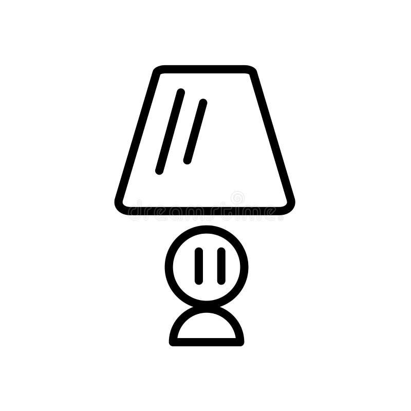 Вектор значка лампы стола изолированный на белой предпосылке, лампе стола si бесплатная иллюстрация