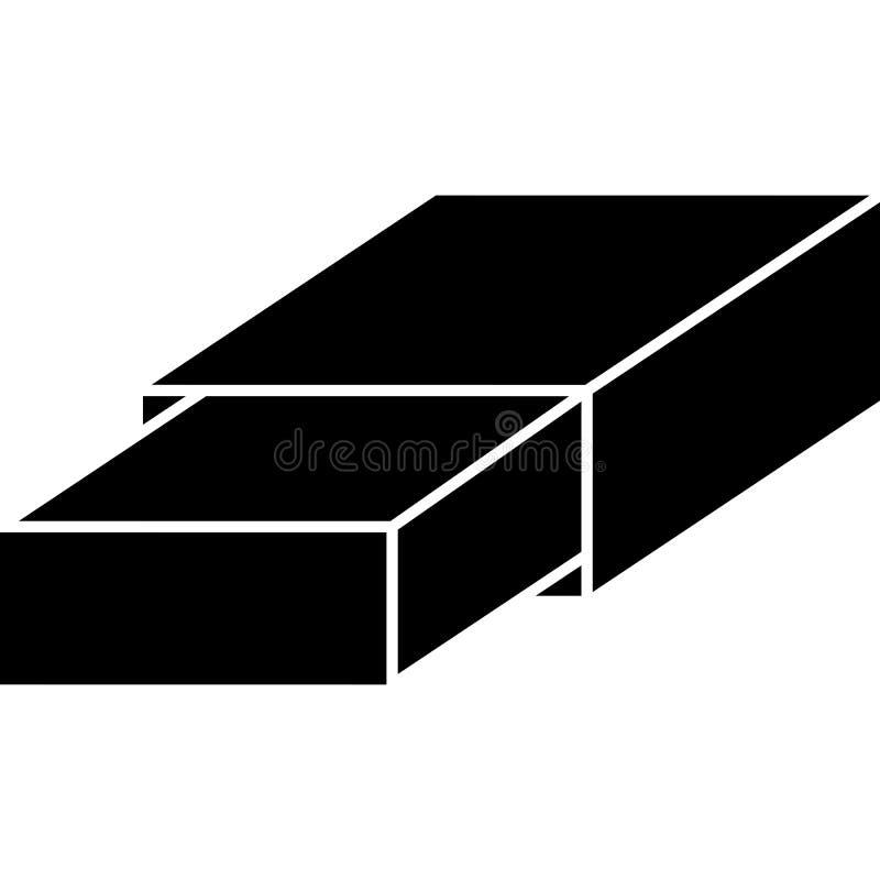 Вектор значка ластика иллюстрация штока