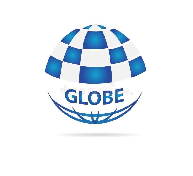Вектор значка логотипа глобуса для концепции деловой компании на белой предпосылке иллюстрация штока