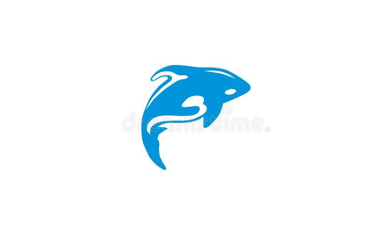 Вектор значка логотипа дельфина иллюстрация вектора