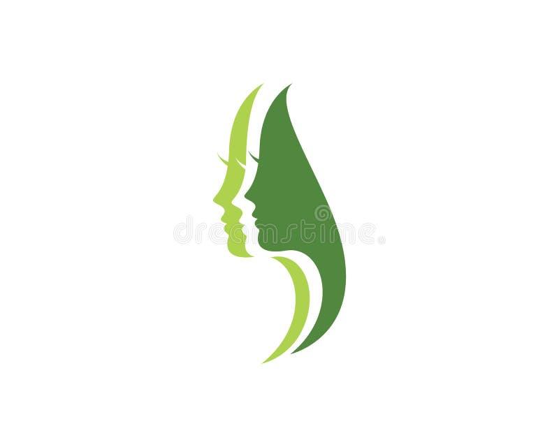 вектор значка логотипа иллюстрации характера силуэта стороны женщин иллюстрация штока