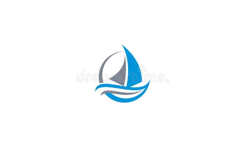 Вектор значка логотипа парусника бесплатная иллюстрация