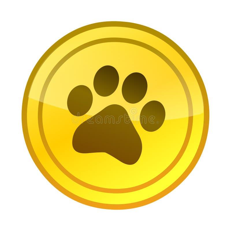 Вектор значка логотипа печати лапки Печать животной ноги иллюстрация вектора