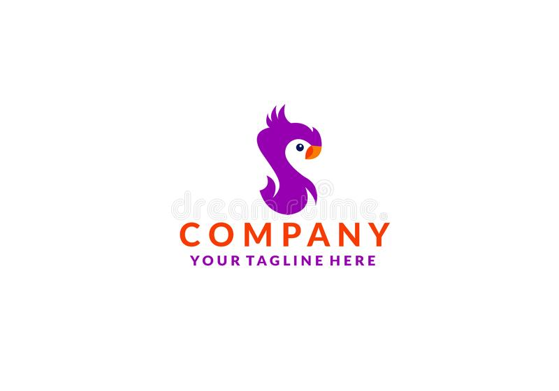Вектор значка логотипа птицы какаду бесплатная иллюстрация