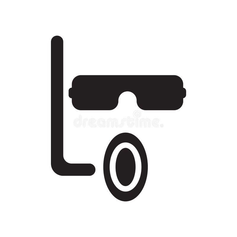Вектор значка маски изолированный на белой предпосылке, знаке маски, символах каникул иллюстрация штока