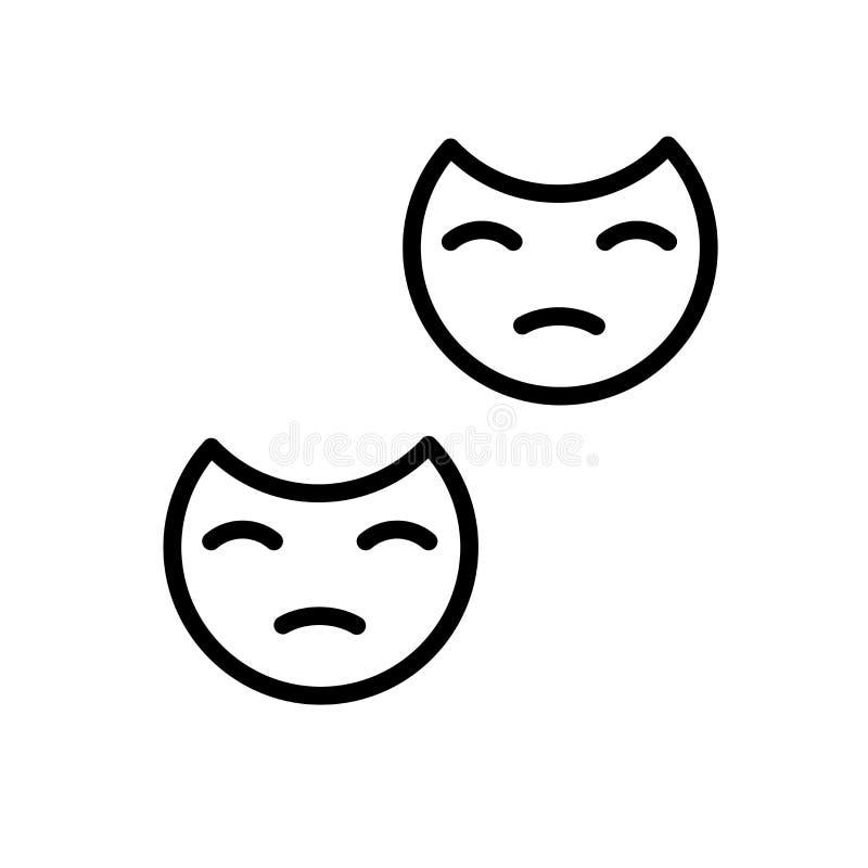 Вектор значка маски изолированный на белых предпосылке, знаке маски, линии и элементах плана в линейном стиле иллюстрация вектора
