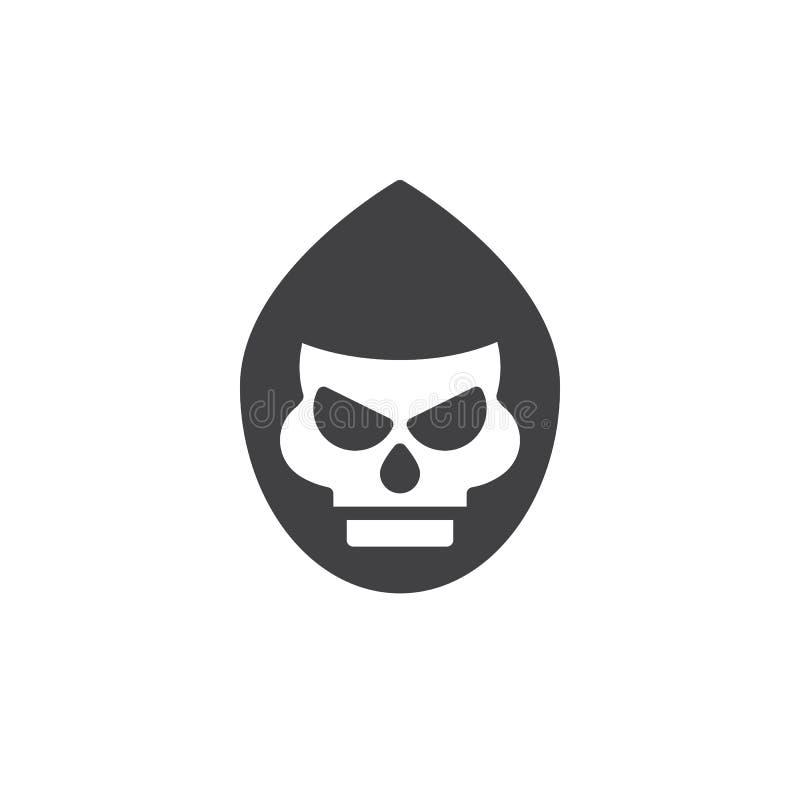 Вектор значка маски смерти бесплатная иллюстрация