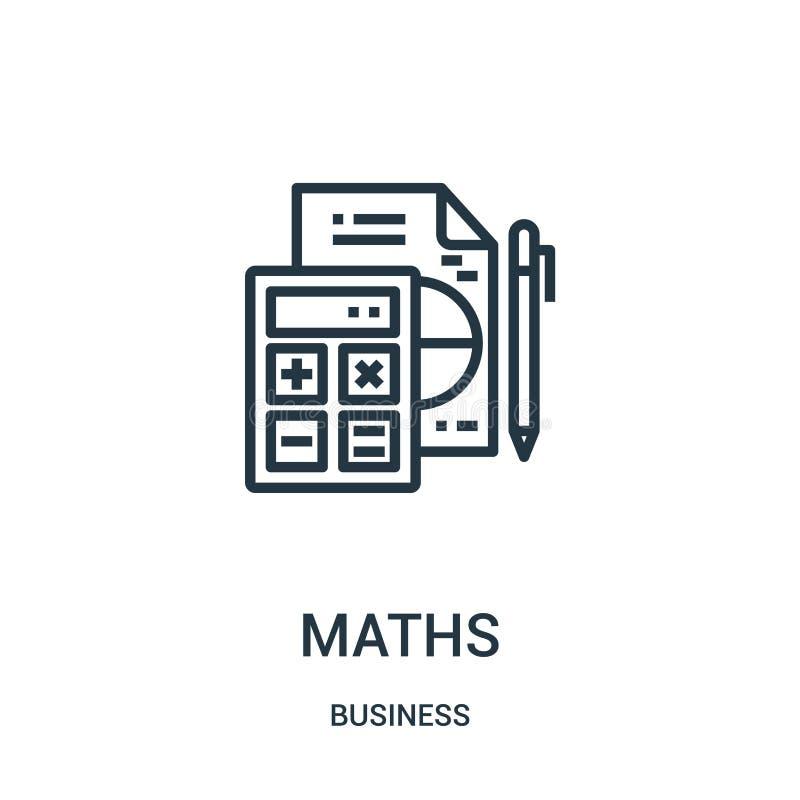 вектор значка математик от собрания дела Тонкая линия иллюстрация вектора значка плана математик Линейный символ для пользы на се иллюстрация штока