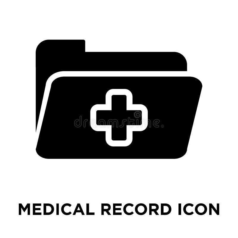 Вектор значка медицинской истории изолированный на белой предпосылке, логотипе co иллюстрация вектора
