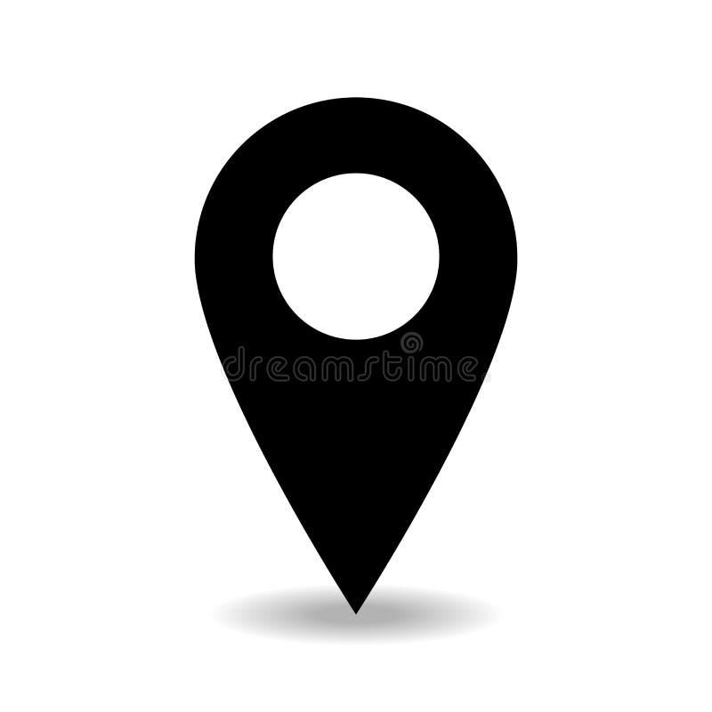 Вектор значка места положения изолированный с simpel предпосылки ровным иллюстрация вектора